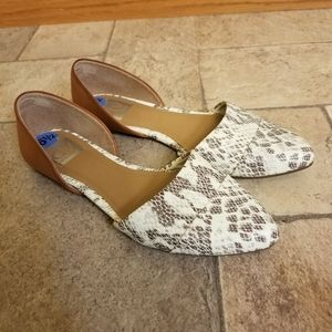 Dolce Vita Snakeskin D'orsay Flats Shoes 6.5